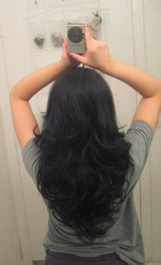 is v shaped layered look good for curly hair long layered haircuts back view v cut layers on pinterest