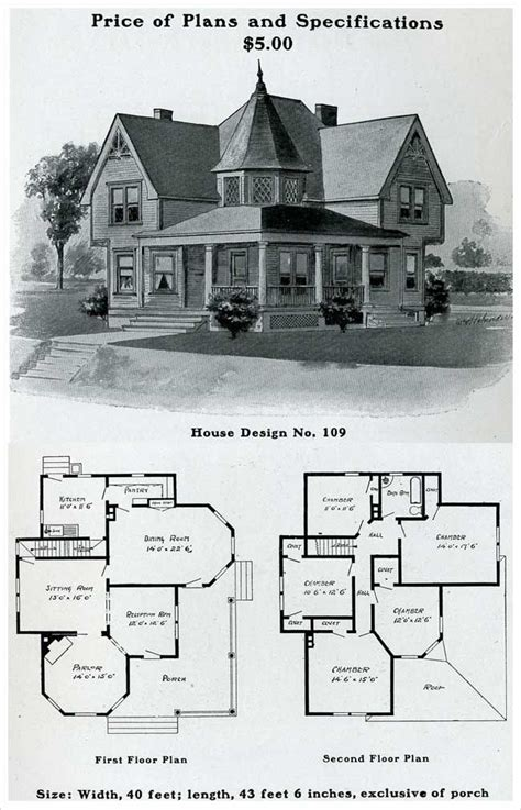 old floor plans 1903 free classic queen anne william radford plans