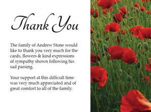 Funeral thank you cards funeral thank you notes