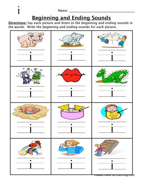 4 Letter Words From Teach free ending sounds worksheets for kindergarten ending