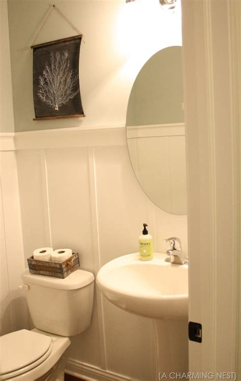 2 In 1 Shower by Diy Board And Batten In 1 2 Bath Powder Room