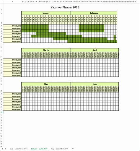 printable staff holiday planner 2016 11 staff holiday planner excel template exceltemplates