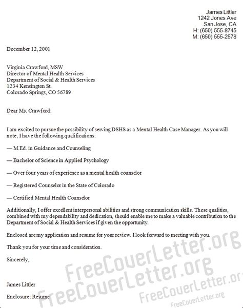 cover letter for mental health manager cover letter jvwithmenow
