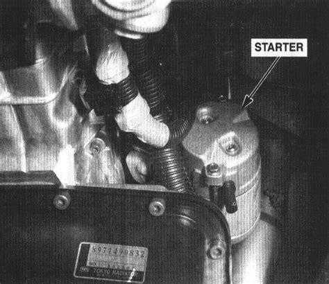 2000 isuzu amigo engine mount removal 1999 isuzu amigo is it hard to change a starter on a 2000 rodeo