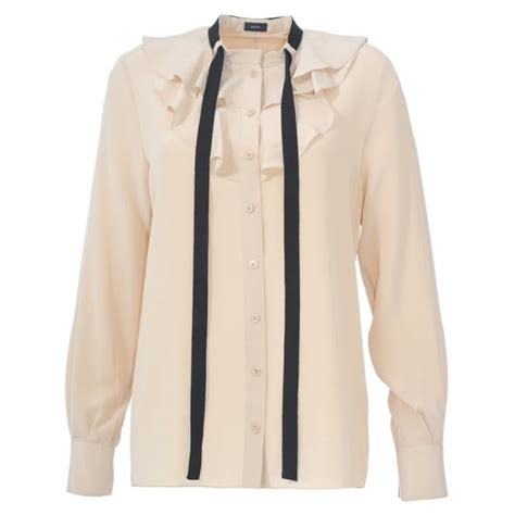 Loeffler Randall Ruffle Collar Blouse by Collection White Ruffle Collar Blouse Pictures Best