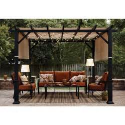 Lowes Outdoor Pergolas by Shop Garden Treasures 134 In W X 134 In L X 92 In H X