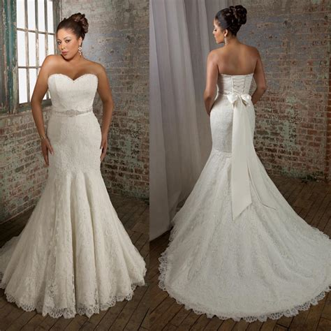 mermaid wedding dresses plus size plus size sweetheart strapless mermaid wedding dresses