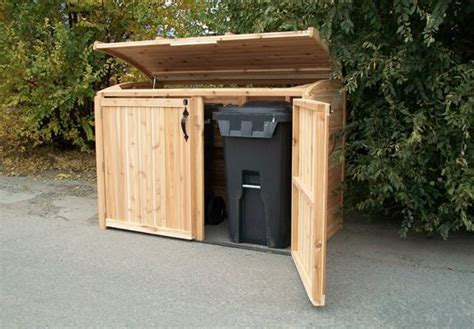Outdoor Garbage Shed by Guide Garbage Storage Shed Plans Haddi