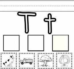preschool learning letter t free printable worksheet