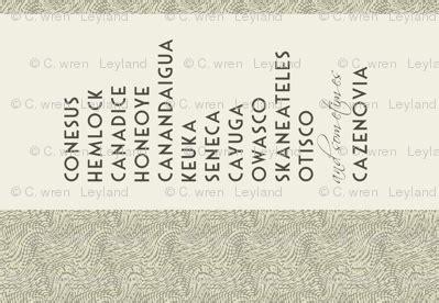 finger lakes names ny wallpaper wrenleyland spoonflower