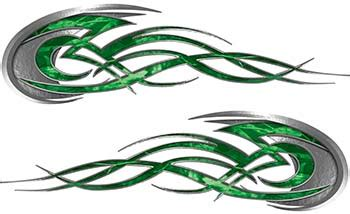 Tribal Stripes Green tribal motorcycle decals cliparts co
