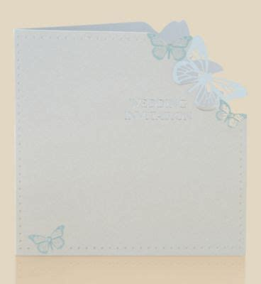marks and spencers wedding invitations 6 aqua butterfly wedding invitations m s