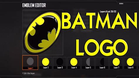 tutorial logo batman black ops 3 batman logo emblem tutorial youtube