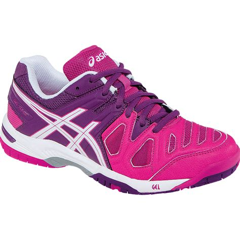 asics gel 5 womens tennis shoe pink glow white grape