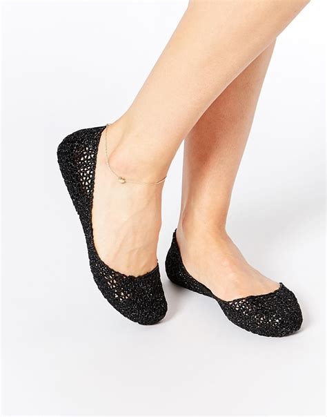 sparkly black flat shoes and cana papel black glitter flat shoes in