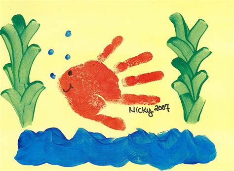 Handprint Fish With Children