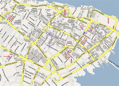 printable map georgetown penang 从槟城码头怎么到sunway hotel georgetown