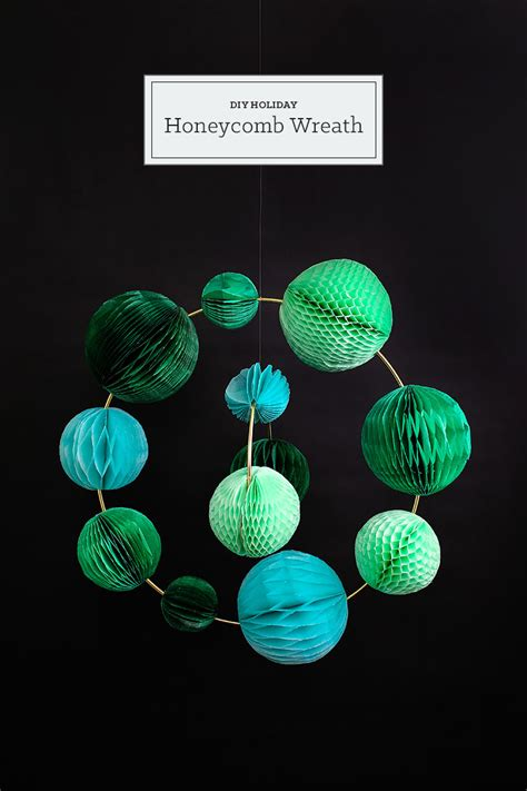 large honeycomb tassel ornament diy christmas diy holiday honeycomb wreath tinselandtrim