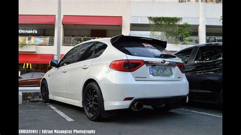 modified subaru impreza hatchback modified subaru wrx hatchback with carbon fiber parts
