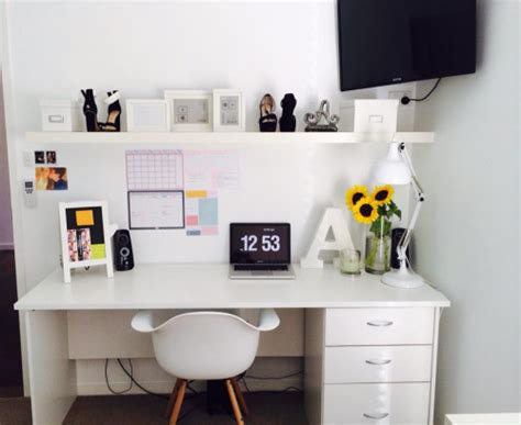 Organization Ideas For Bedrooms white desk with drawers on the hunt