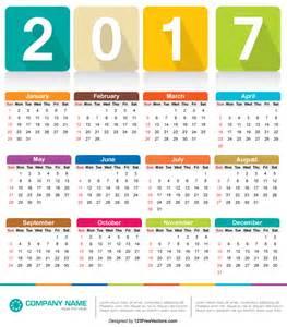 Calendar Vector Calendar 2017 Vector By 123freevectors On Deviantart