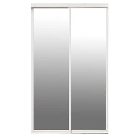 Sliding Closet Door Frame Contractors Wardrobe Majestic 84 In X 96 In White Frame Mirror Hardwood Interior Sliding Door