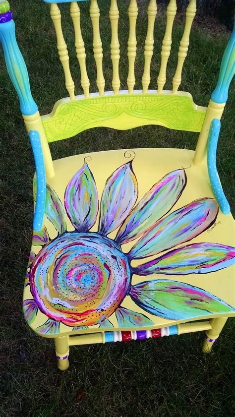 Painted Armchair by Carolyn S Funky Furniture The Painted Chairs