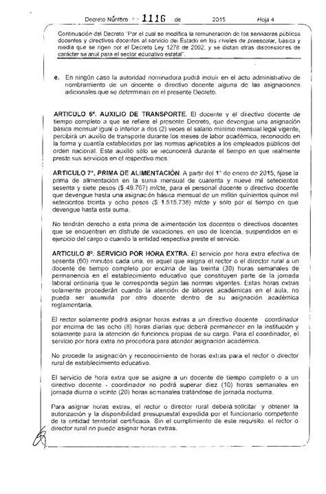 decreto salarial 2016 de 1278 de 2002 decreto salario docentes 1278 2015 autos post