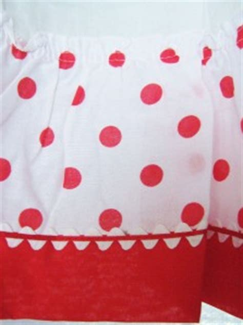 Polka Dot Kitchen Curtains Nos Fashion Manor Penneys Penn Prest Polka Dot Kitchen Curtains Ebay