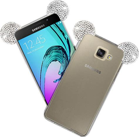 Samsung J120 J1 2016 3d Mickey Mouse Ear Cover Casing Iring Bagus oem back cover silicone strass ears silver galaxy a5 2016