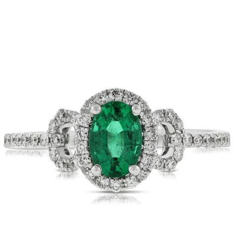oval emerald ring 14k ben bridge jeweler