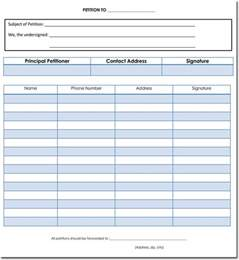 Printable Petition Template by Petition Templates Create Your Own Petition With 20
