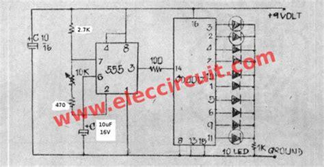 Sepatu Running Blink rangkaian lu led berjalan running led dengan ic4017