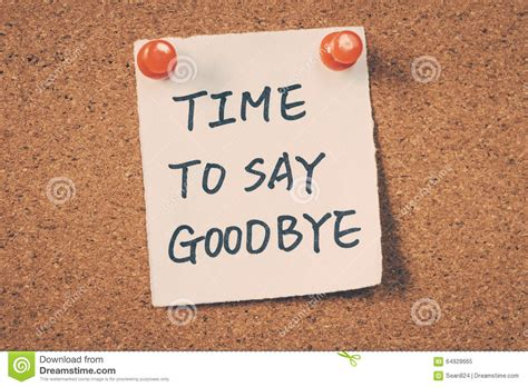 Time To time to say goodbye stock image image of reminder