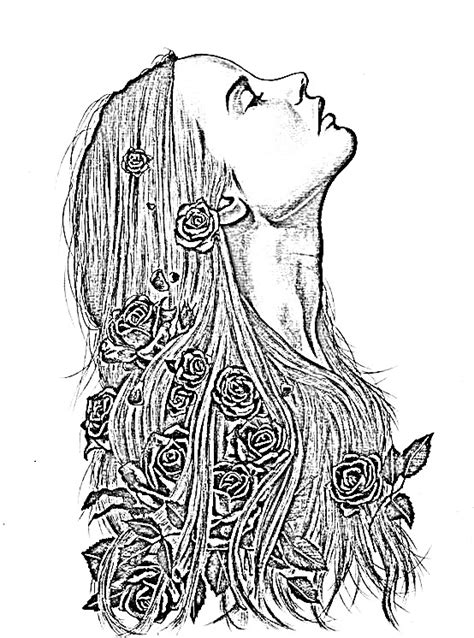 coloring pages of people s faces 152 best images about clipart floral on pinterest
