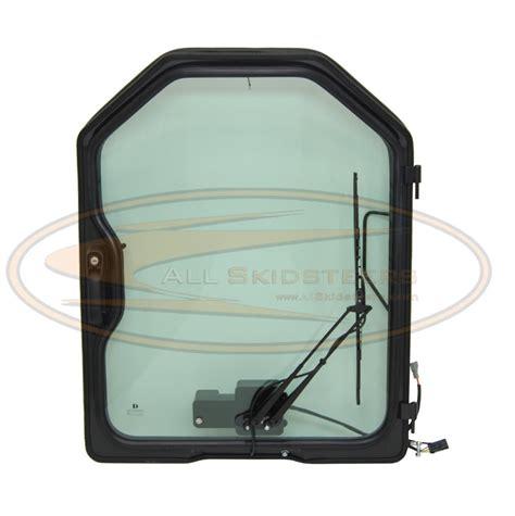 291 t140 l holder bobcat loaded door w wiper glass t110 t140 t180 t190 t200