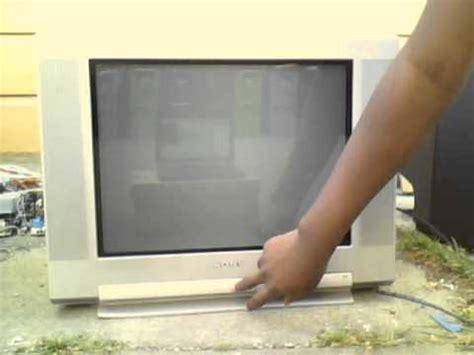 Tv 21 Inci Second 2002 sony fd trinitron wega kv 20fs100 crt tv working