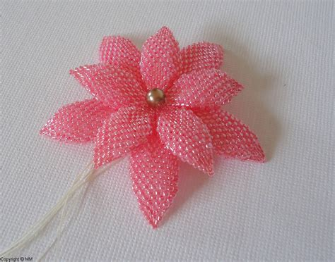 free patterns and instruction on making flower hair clips sale jewelry beading tutorial delica and seed beaded