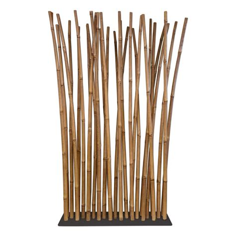 bamboo room divider bamboo room divider on steel base plate 100 x 200 cm