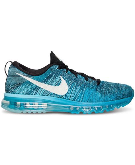Nike Airmax Running 6 nike s flyknit air max running sneakers from finish line in black for lyst