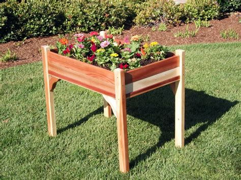 elevated raised bed how to build a raised planter box with legs edible garden