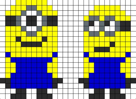 perler bead patterns minion despicable me minoins perler bead pattern bead sprites