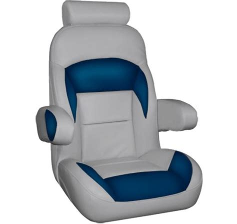 pontoon captain seats captains boat seat with flip up arms and headrest