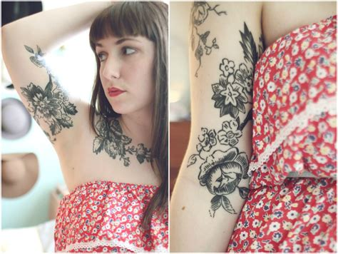 upper arm tattoos for women flower inner arm busbones