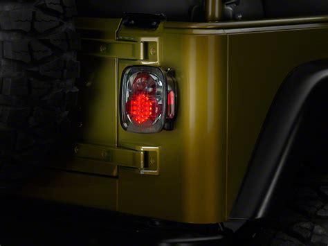 jeep yj lights alteon jeep wrangler led lights platinum smoke