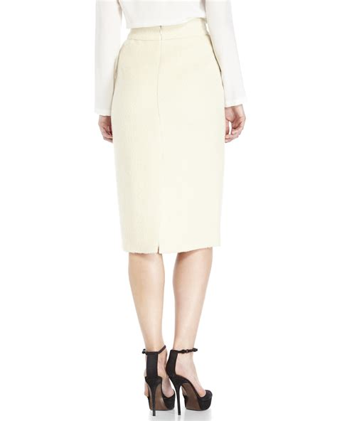 Ivory Skirt by Lyst Raoul Ivory Wool Pencil Skirt In White