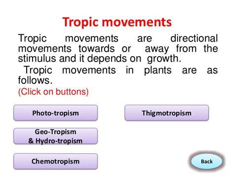 tropic movements in plants movements in plants