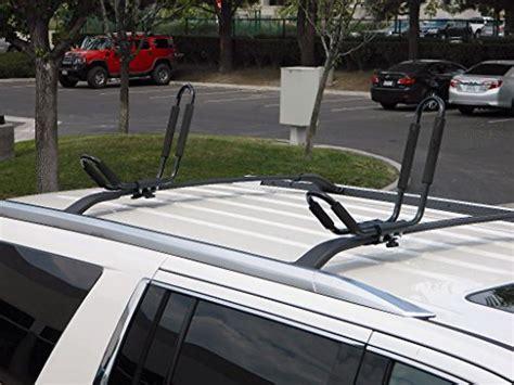 Wakeboard Roof Rack by Toughsteel 174 2 Pair 4 Racks Universal Black J Shape Steel