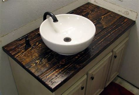 Wood Top Bathroom Vanity A Vanity Top How To Install A Bowl Sink Michael Build This For Me Pinterest Diy