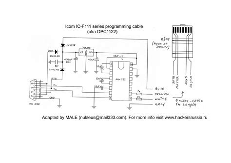 ic programmer circuit diagram icom